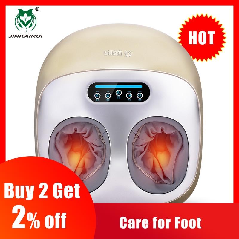 Jinkairui Elektrische Vibrator Foot Massager Gezondheidszorg Massage Infrarood Verwarming Therapie Shiatsu Kneden Luchtdruk Machine