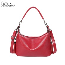 Mododiino Tassel Women Handbag High Quality Leather Shoulder Bag Luxury Designer Red Female Crossbody DNV1156