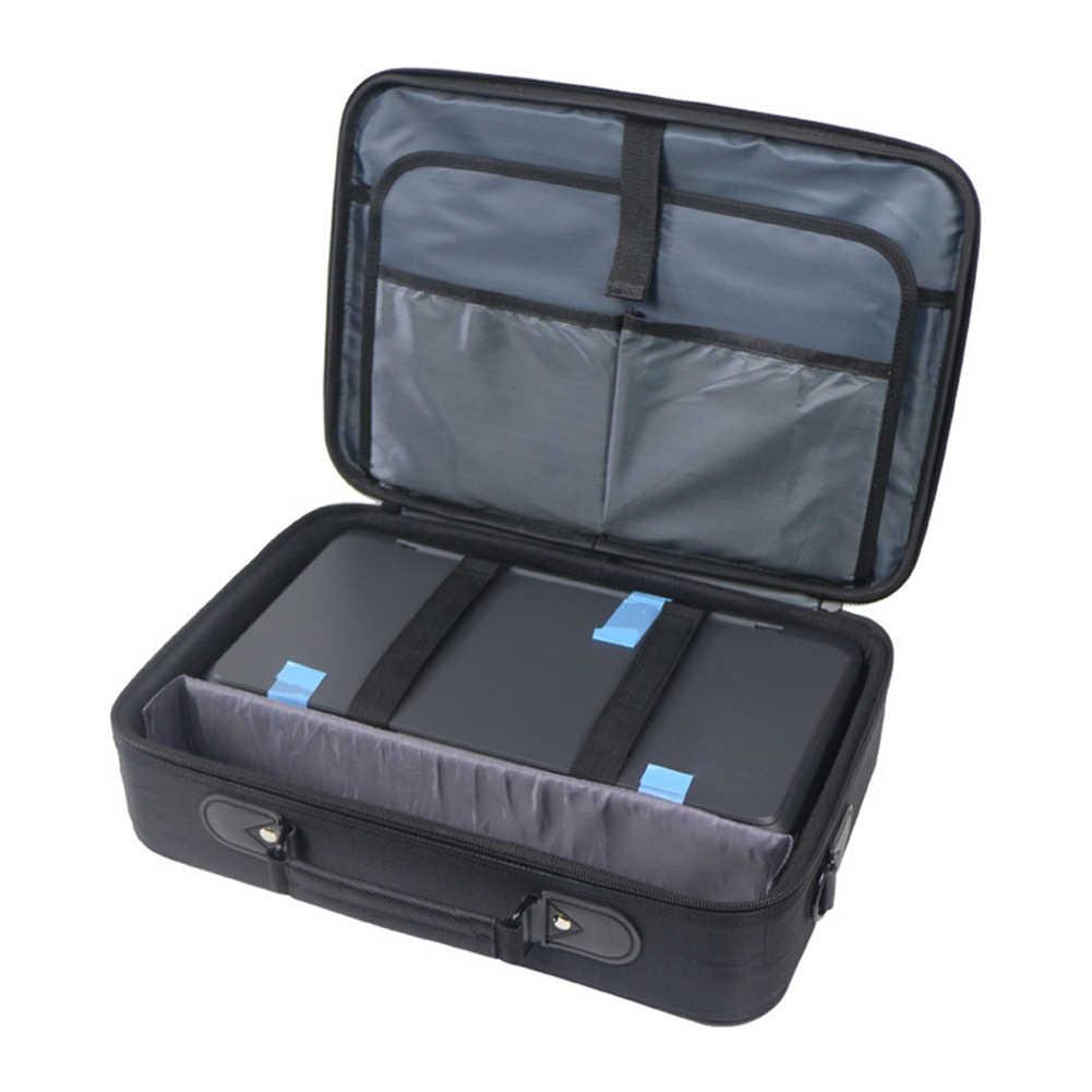 الأعمال انفصال مكتب حقيبة التخزين طابعة محمولة قابل للتعديل حزام مقبض علوي متعدد الوظائف مزدوجة سحابات ل HP 258