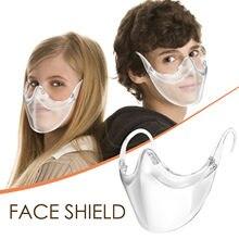 Mascarilla de protección facial duradera y reutilizable para niños, máscara de plástico transparente para Cosplay, protectora de la boca, 13 años