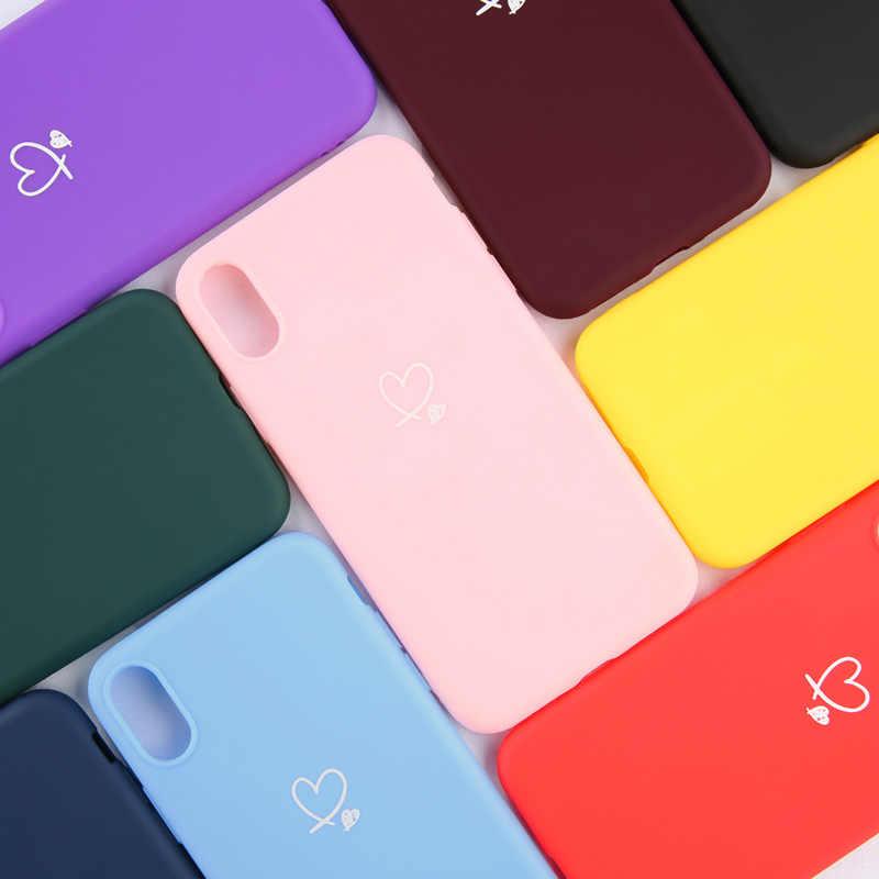 أوتون آيفون 11 برو ماكس XS ماكس XR X 8 7 6 6s زائد الحب القلب الأزواج حالة حلوى لون آيفون 5 5s SE لينة غطاء سيليكون