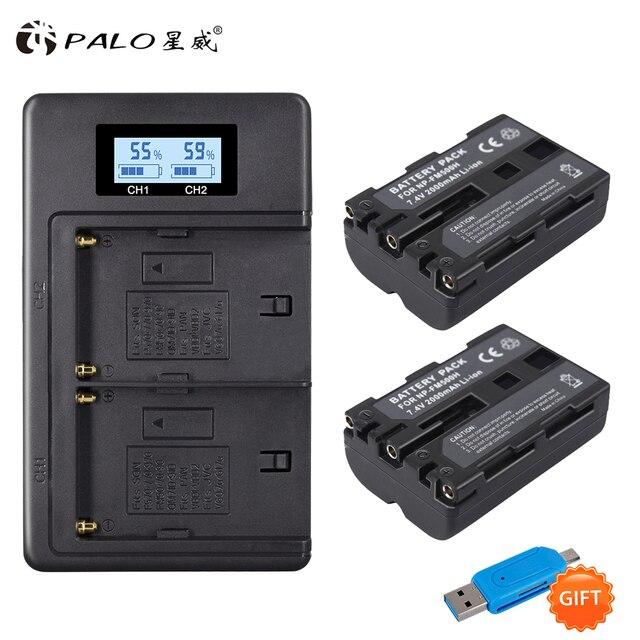 PALO 2000 mAh NP FM500H NP FM500H NPFM500H charger For Sony Camera battery A57 A58 A65 A77 A99 A550 A560 A580 battery l10