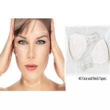 Rosto fino invisível adesivos faciais rosto instantâneo pescoço secreto lift fitas recarga linha facial rugas flácida pele v-forma face lift