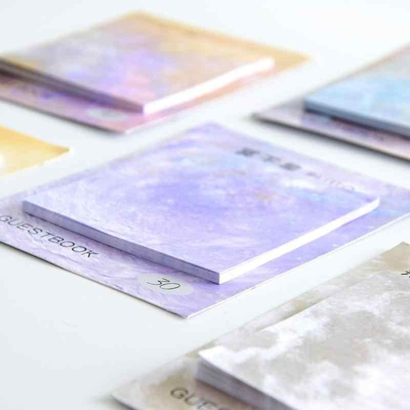 นิยายวิทยาศาสตร์ Planet MeMO Pad โน้ตบุ๊คสำนักงานเครื่องเขียน Creatuve สติกเกอร์กระดาษอุปกรณ์สำนักงานโรงเรียน Papelaria หมายเหตุ