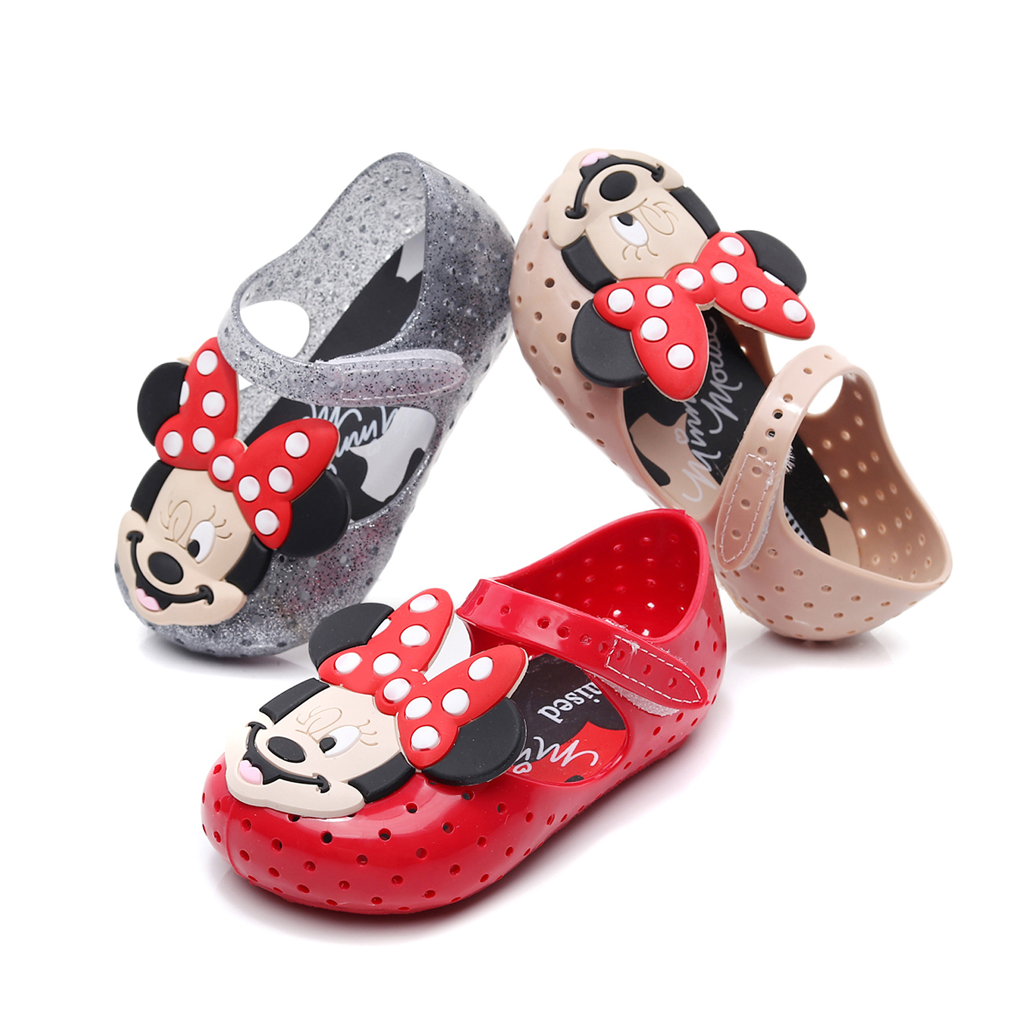 Mini Sed 2020 New Girls Cute Mickey Summer Sandals Kids Princess Fashion Hole Jelly Shoes Baby Beach Wear Shoes Candy Shoe MS004