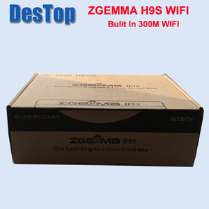 Image 5 - Zgemma 1pcs/lot ZGEMMA H9S bulit in 300M wifi DVB S2X Multistream 4K UHD Support ZGEMMA H9S Satellite Receiver FREE SHIPPING
