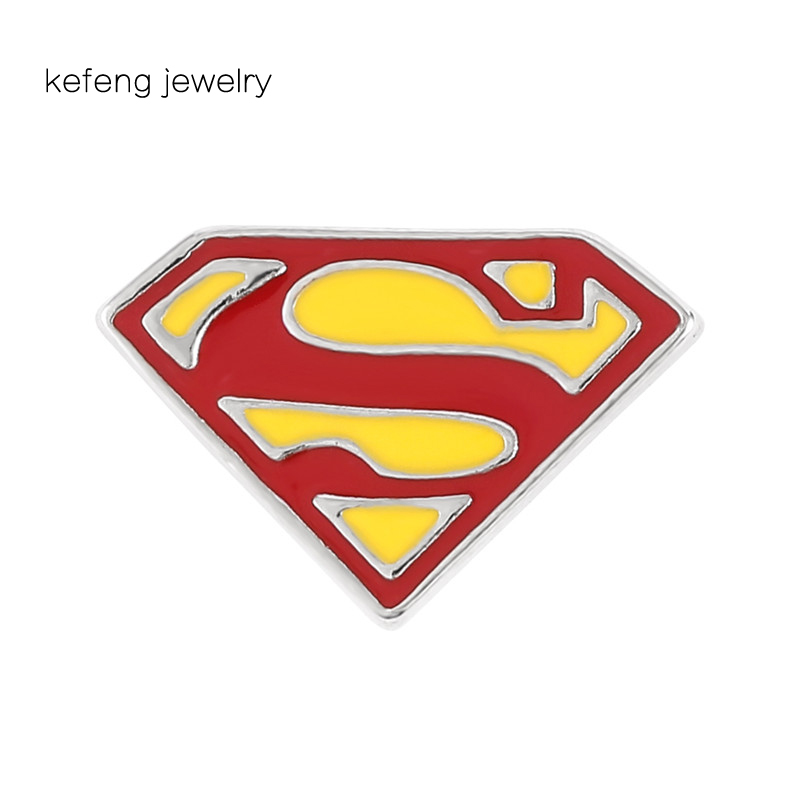 Superman S Logo Enamel pin Suit Lapel Pin Brooch Badge For Man And Woman Birthday Garment Accessories Metal Jewelry(China)