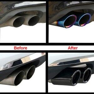 Image 3 - 1 par Traseira Do Carro Cauda Silenciador Tubo de Escape Garganta E90 E92 3 Cores Para BMW 325i 328i 2006   2010 F10 F11 F18 520i 523i 525i 528i