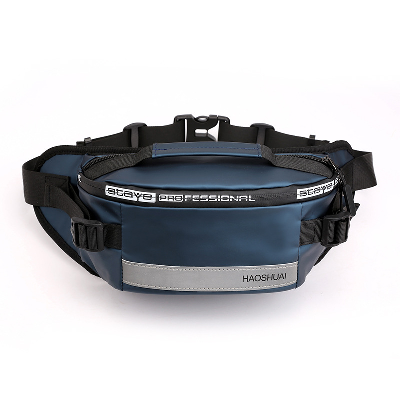 Men Nylon Waist Bags Fanny Single Chest Pack Multi-Functional Anti-theft Reflective Strip Shoulder Male Hip Bum Belt Bag