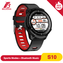 BELOONG S10 Full Touch Screen IP68 Waterproof Smart Watch Blood Pressure Oxygen Monitor Weather Show Fitness Tracker Smartwatch