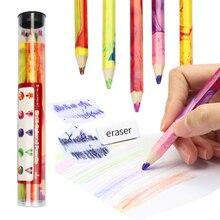 Erasable DEDEDEPRAISE Pencils Lapis Color-Pencil-Stationery Mixed-Color Thick Lead