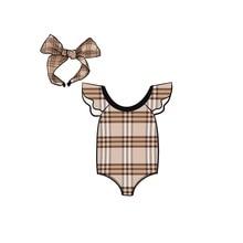 Children swimsuit girl girl lovely swimming suit in Europe and America baby one body swimming dress little girl Princess bikini