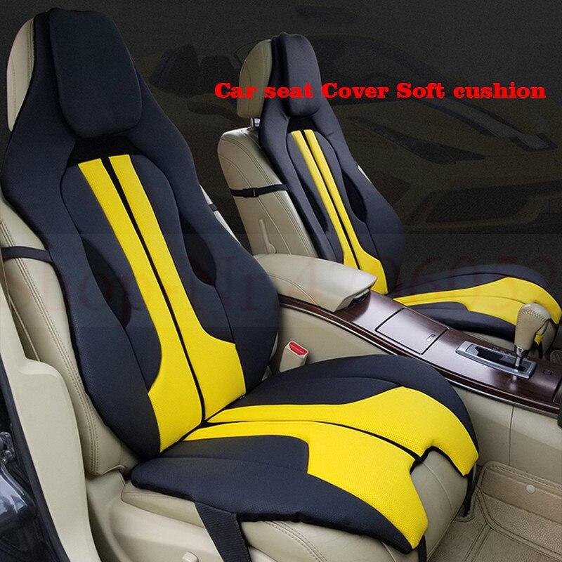 Housse de siège de voiture doux coussin rouge blanc jaune blu pour Ferrari Mercedes BMW Audi sport mode individualité intérieur accessoires