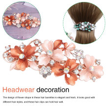Fashion Womens Crystal Butterfly Hairpin Vintage Rhinestone Flower Hair Pin Barrette Clip Styling Accessories