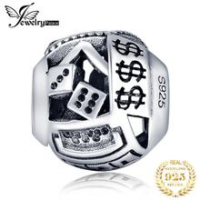 JewelryPalace Casino Dollar 925 Sterling Silver Beads Charms Original Fit Bracelet original Jewelry Making