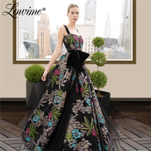 Vestidos Embroidery Evening Dress Arabic Prom Dresses Robe De Soiree вечернее платье 2020 Party Dress For Weddings Custom Made