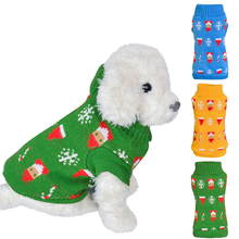 Dog Sweater Pet Winter Warm Turtleneck Christmas Costume Apparel Pull pour animaux