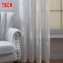 Luxury Tulle Curtains Drapes Fabrics Bedroom The-Windows Living-Room Single-Panel Modern