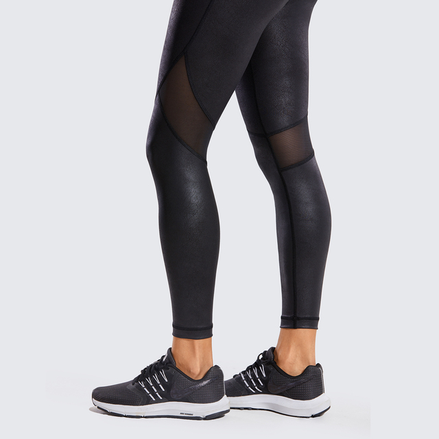 Women's Matte Coated Leather Texture Leggings