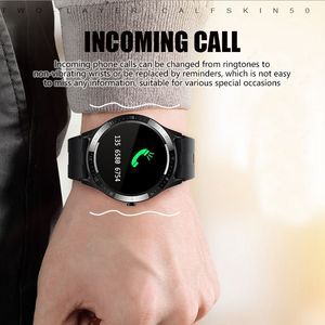 Image 4 - SENBONONew ساعة ذكية تعمل باللمس للرجال ، ساعة ذكية رياضية S21 مع التحكم في الصور ، معلومات الطقس لنظامي Android
