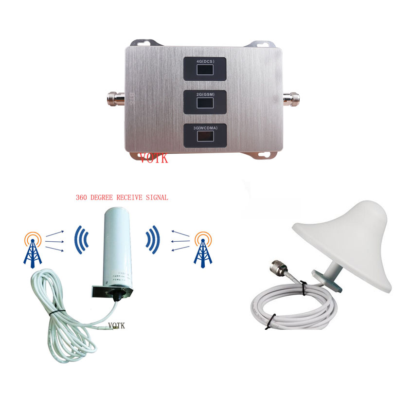 Hot Sale 2G 3G 4G SIGNAL Booster MOBILE PHONE GSM LTE1800MHz UMTS 2100MHz  NETWORK Repeater  Celluar Amplifier With Omni Antenna