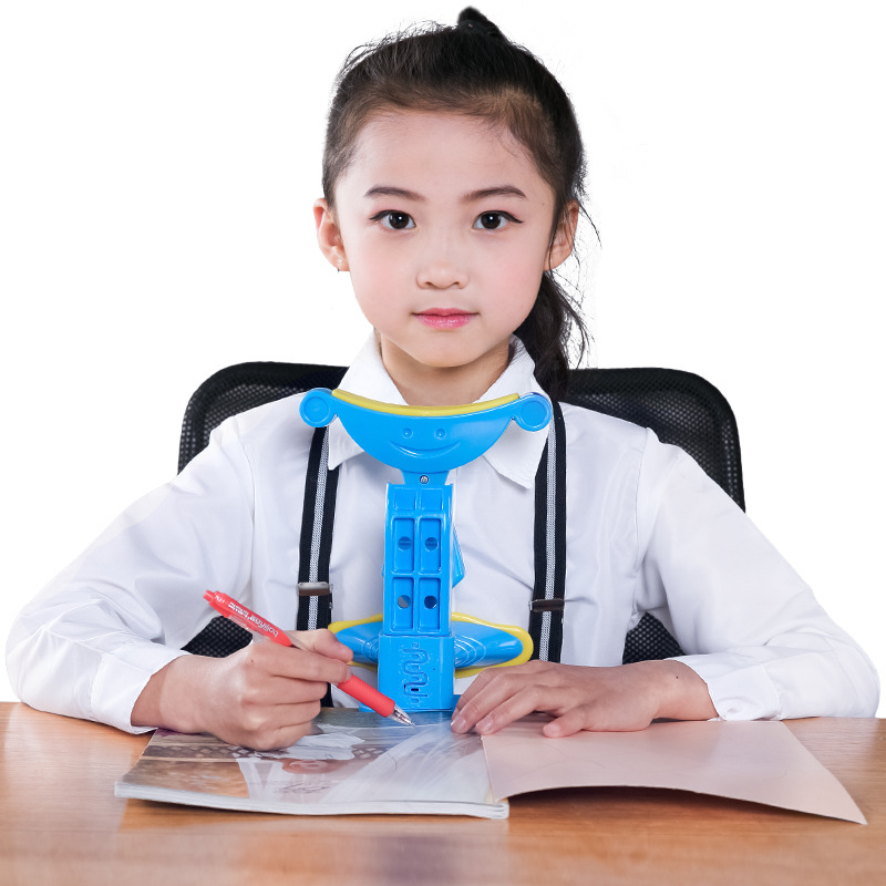 Kids Sitting Posture Corrector When Reading And Writing Adjustable Anti-myopia Sitting Support Brace,blue Pink Green Available