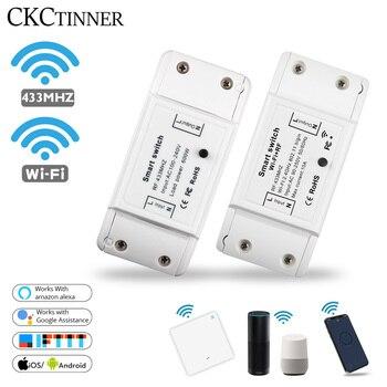 Smart Light Switch Wireless Remote DIY WiFi RF 433Mhz Smart Switch Work With Alexa Google Smart Home Universal Breaker Timer APP недорого
