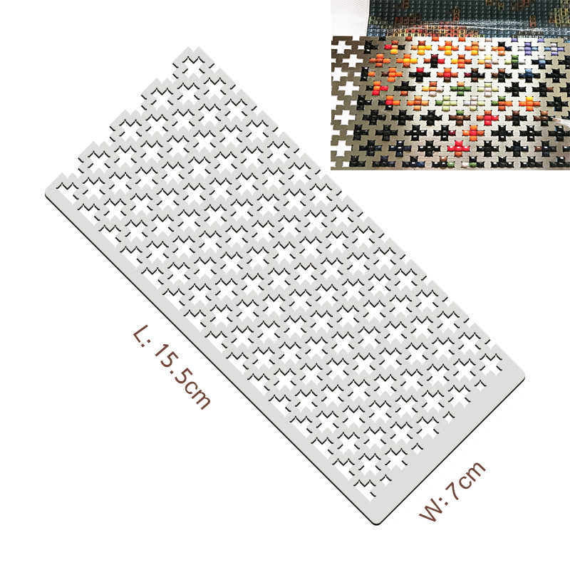for Craftsman Diamond Painting Ruler Dot Drill Accessory Tool Diamond Drawing Tool Diamond Screen Ruler DIY Rhinestone Embroidery Painting Ruler