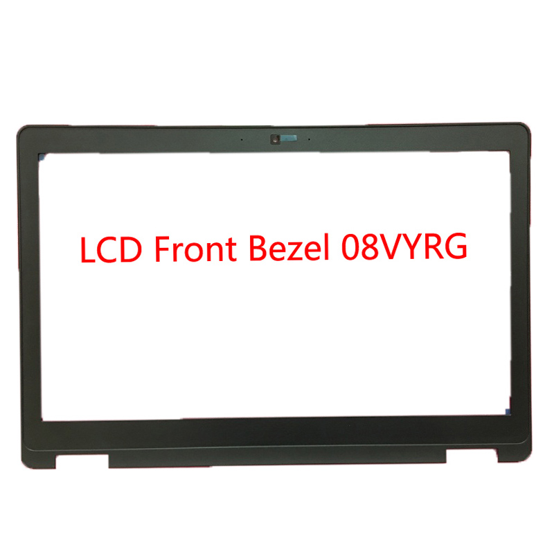 Laptop LCD Front Bezel For <font><b>DELL</b></font> For Latitude E5570 For Precision <font><b>3510</b></font> P48F black with camera hole 08VYRG 8VYRG 02M5F4 2M5F4 New image
