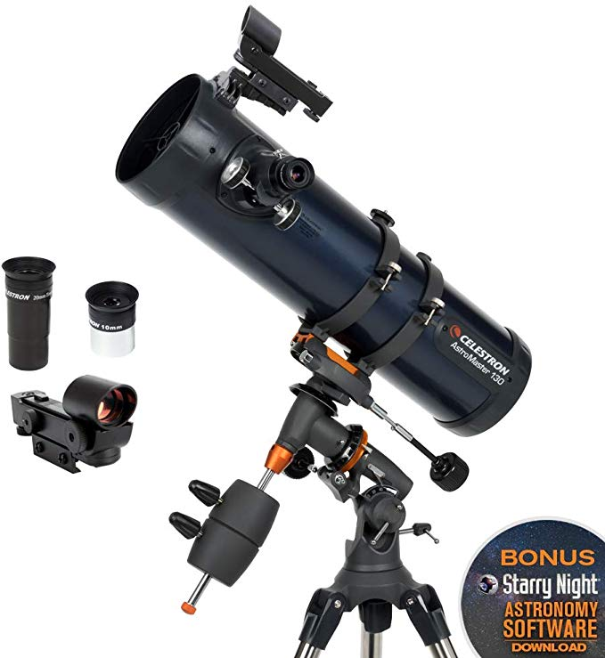 2019 Professional  Celestron AstroMaster 130EQ Newtonian Reflector Astronomical Telescope Professional High-Power