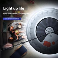 Ampoule LED Rechargeable lampe télécommande solaire Charge lanterne Portable d'urgence nuit marché lumière en plein air Camping maison chaude