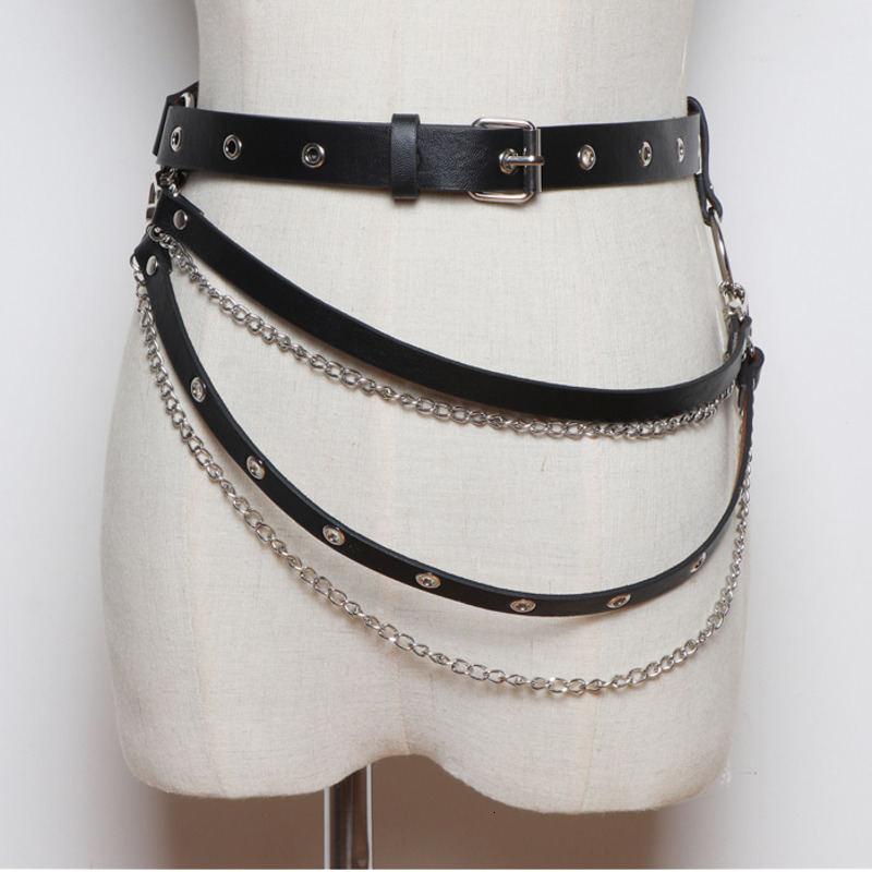 LANMREM 2020 Korean Version Of The Wild Personality Layer Chain Decorative Belt With Shirt Dress Girdle PC231