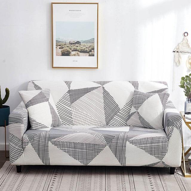 чехол для дивана хлопковый с цветочным принтом диван полотенца фотография