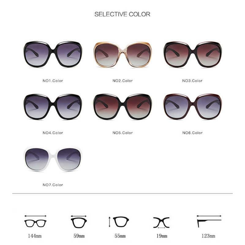 แว่นตากันแดด Polarized Luxury ผู้หญิงยี่ห้อ Designer 2020 VINTAGE Retro ขนาดใหญ่ขับรถดวงอาทิตย์แว่นตาสำหรับผู้หญิงแว่นตากันแดด Shades Lady