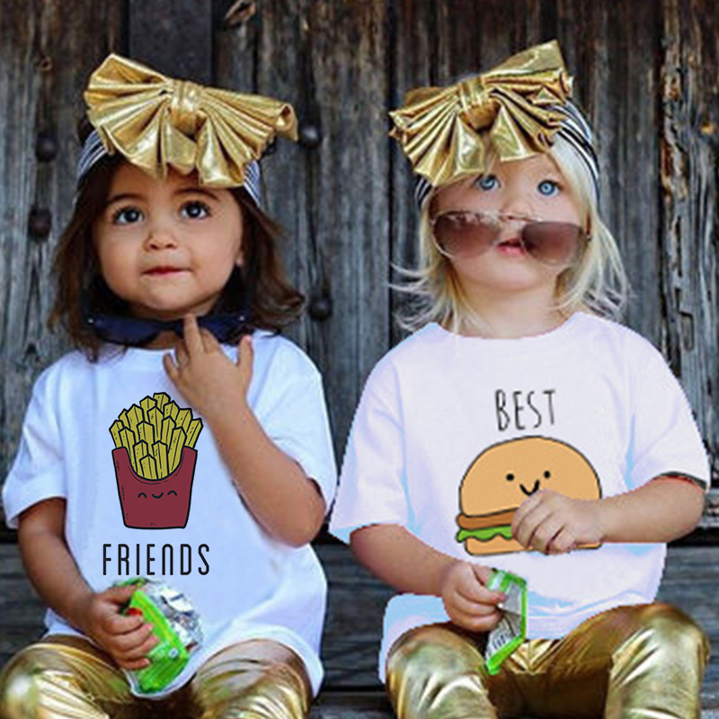 Fashion Hamburg Chips Girl Top <font><b>Shirt</b></font> Teen <font><b>Best</b></font> <font><b>Friends</b></font> Kawaii Funny Boys T <font><b>Shirts</b></font> Casual Children Boys Girls T <font><b>Shirt</b></font> <font><b>Kid</b></font>,BAL515 image