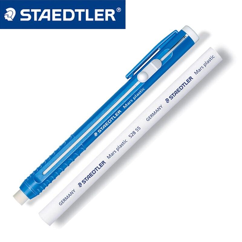 1pc staedtler mars plástico 528 25 caneta automática borracha substituível núcleo deslizante push escrita pintura escritório e material escolar