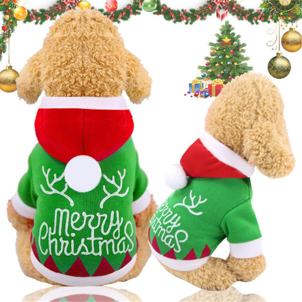 Pet Dog Clothes Christmas Apparel For Small Dogs Winter Coat Santa Costume Clothing Hoodie Outfit For Chihuahua Yorkies