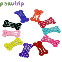 pawstrip 10pcs/lot Bone Shaped Small Dog Hair Clips Cat Grooming Supplies Pet Dogs Hairpin Pet Grooming Accessories For Cats Dog