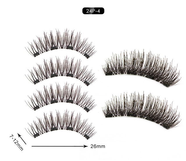 Magnetic Eyelashes Extension Natural False Eyelash Magnets Reusable 3D Magnetic Fake Eye Lashes Makeup 2/3/4 Magnet Dropshipping 1