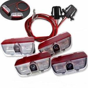FHAWKEYEQ 2 комплекта Добро пожаловать Свет двери интерьер предупреждение свет + кабель провод для VW Tiguan Passat B6 B7 Jetta MK5 MK6 Golf Sharan CC