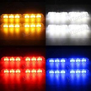 Image 5 - Luz estroboscópica de emergencia para coche y camión luz de advertencia estroboscópica con control remoto inalámbrico de 4x 3/led para ambulancia y Policía
