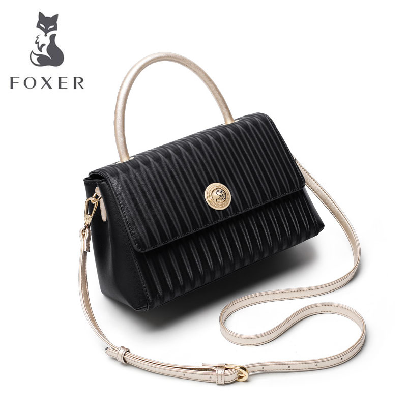 FOXER luxury handbags women bags designer bags famous brand women bags 2019 new tote bag women leather shoulder Crossbody bag 4