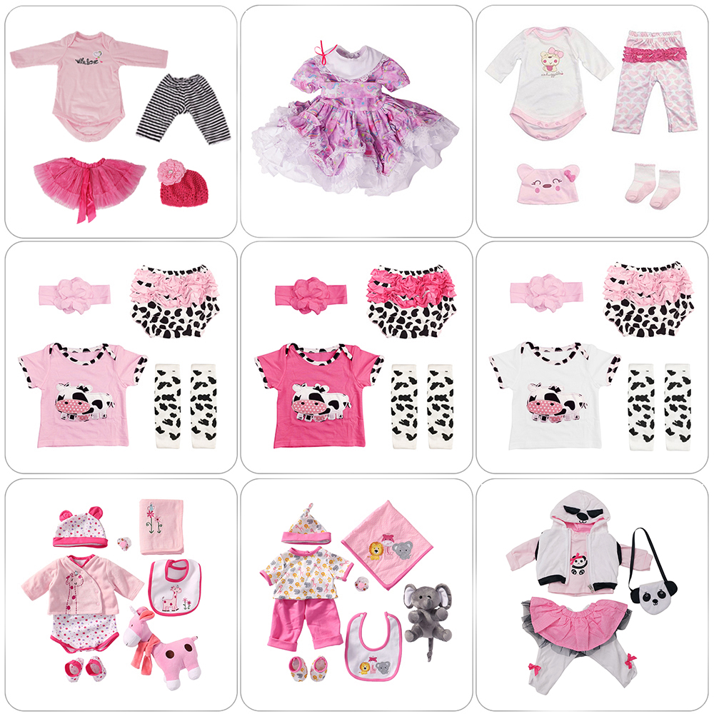 Reborn Doll Clothes Outfit Accessories For Newborn Girl 50-60cm