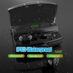 Image 5 - באוזן סוללה LED תצוגה אלחוטי Bluetooth 5.0 אוזניות עמיד למים TWS עם 1800mAh בנק כוח יכול לחייב עבור טלפון אוזניות