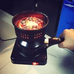 650W Heater Charcoal Stove Hot Plate Coal Electric Burner for Shisha Hookahs Chicha Narguile Coal Lighter DIY Accessories US plu