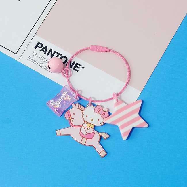 Dos desenhos animados Anime Olá Kitty Kimono Doce Animal Keychain Para Meninas Mulheres Saco Anel de Chaveiro Pendente Charme Crianças Brinquedos D370