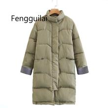 Big Size Winter Coat Female Parkas Thickening Cotton Overcoat Women Long Down Jacket Padded Warm Ladies Snow Outwear