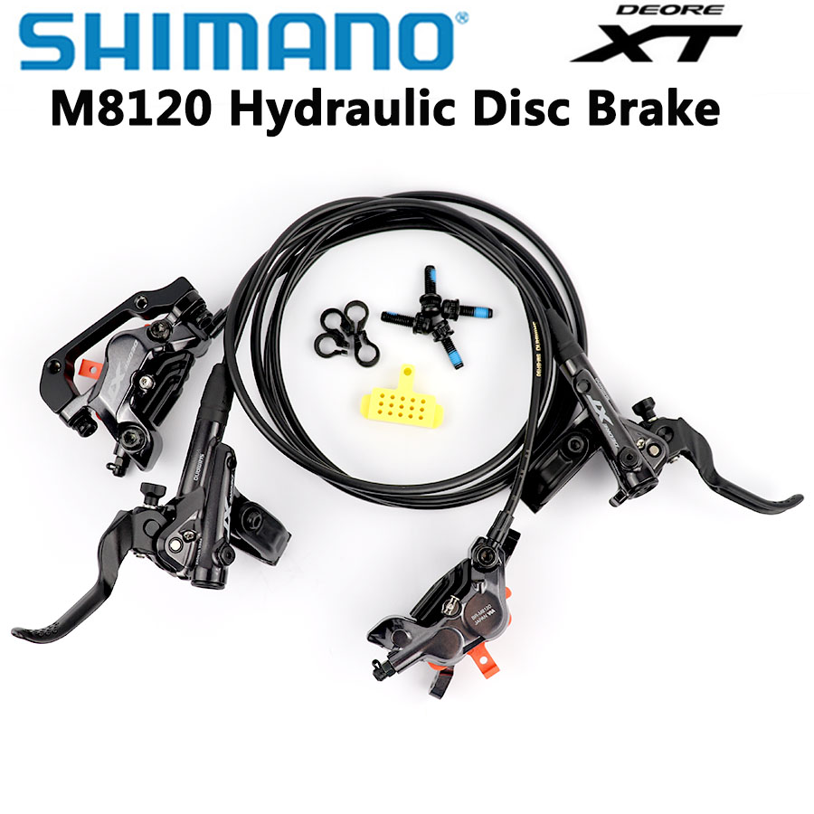 <font><b>Shimano</b></font> DEORE <font><b>XT</b></font> M8120 M8000 <font><b>M8020</b></font> M8100 <font><b>Brake</b></font> 4 Piston HydraulicBike Disc <font><b>Brake</b></font> ICE-TECH PADS BL-M8100/BR-M8120 850MM/1550MM image