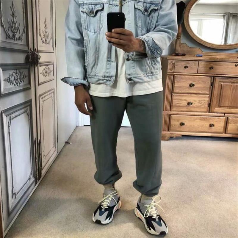 Kanye West SEASON 6 TRACKPANTS 4 Colors 2020 New Arrival Skateboards Men Narrow Feet Cotton Sweatpants Hip Hop SEASON 6 Pants