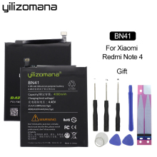 YILIZOMANA Original Phone Battery BN41 for Xiaomi Redmi Note 4 / 4X MTK Helio X20 4000mAh Genuine Replacement battery+Tools
